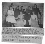 Characters In Play Put On In Loring Church Possibly 1915